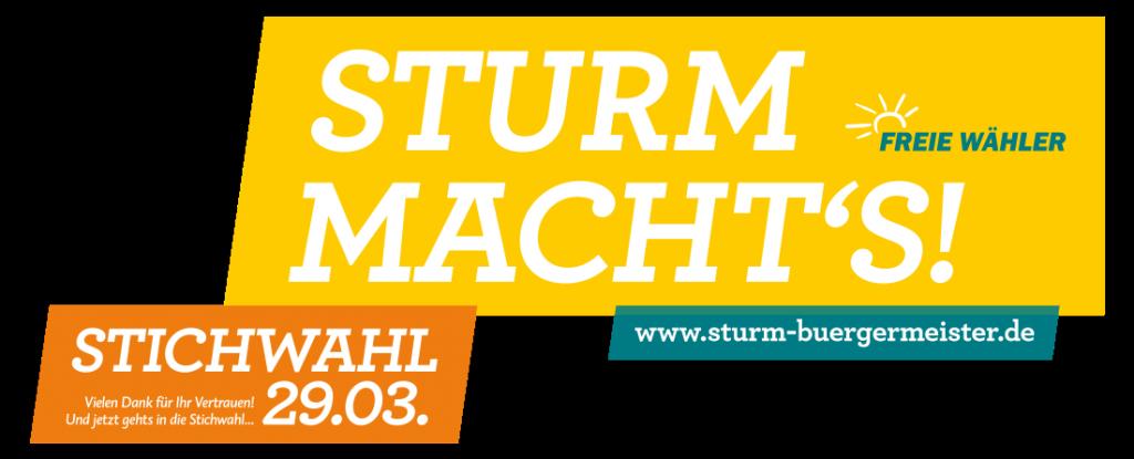 Bürgermeisterkandidat Michael Sturm Freie Wähler Weßling - Sturm macht´s